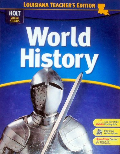 9780030430329: Holt Social Studies - World History - Louisiana Teacher's Edition - 6th Grade