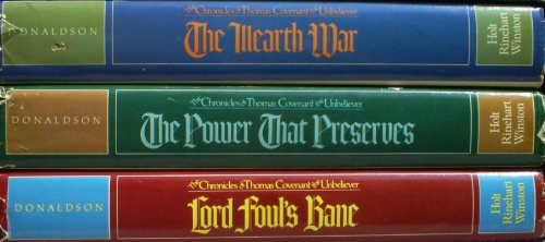9780030430411: Chronicles of Thomas Covenant, the Unbeliever (Lord Foul's Bane; The Illearth War; The Power That Preserves) Boxed Set