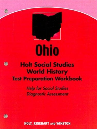 9780030430428: Holt World History Ohio: Standard Test Prep Workbook Grades 6-8