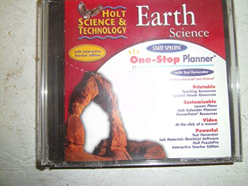 9780030430886: One-Stop Planner CD-ROM for Holt Earth Science (With Interactive Teacher Edition and Test Generator)