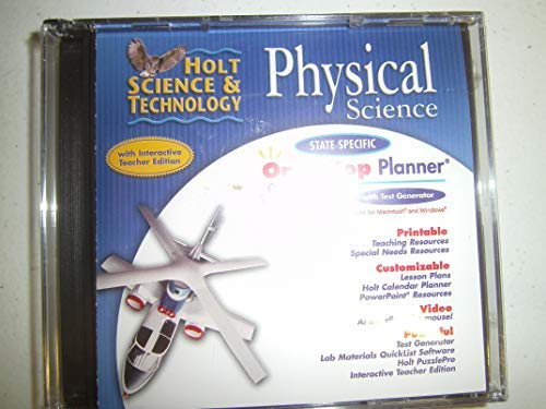 9780030430893: One-Stop Planner with Test Generator for Holt Physical Science