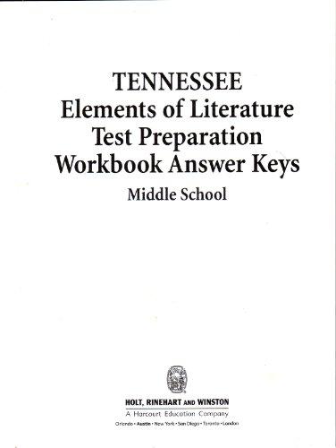 Elements Of Literature, Tennessee Test Preparation Workbook: Kylene Beers, Ed.D.,