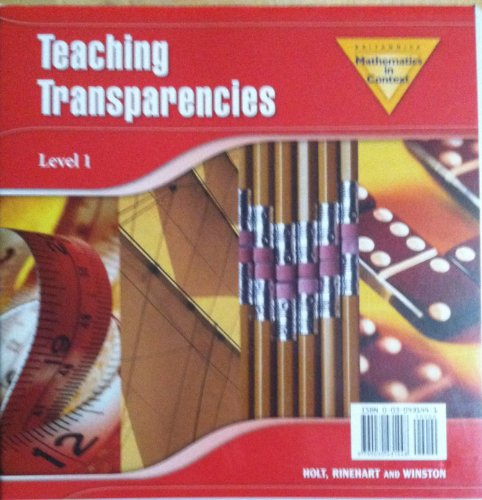 9780030431449: Mathematics in Context Level 1 TEACHING TRANSPARENCIES (3 Ringed Binder) 2006