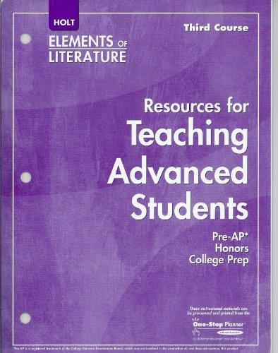 Fifth Course, Holt Elements of Literature: Resources: Holt
