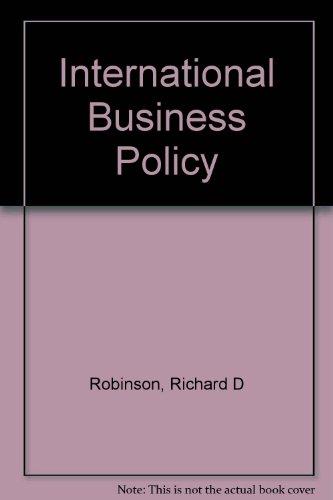 9780030434808: International Business Policy