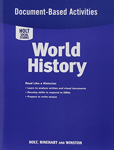 9780030435096: World History Full Survey: Document-Based Activities for World History