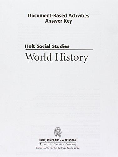 9780030435126: Wh Ansky/Doc Bs ACT Hss: Wld Hist 2006