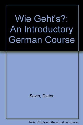 9780030435164: Wie geht's: An introductory German course (German Edition)
