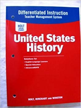 9780030435584: United States History Beginnings to 1877 2007 Differential Instruction ISBN 0030435587 Teacher Management System