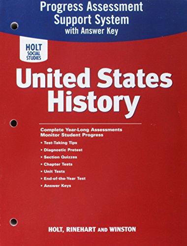 9780030435591: United States History: Program Assessment Support System