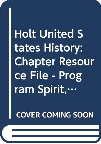 9780030435645: Crf: Prog Spirit Hss: Us Hist 2007