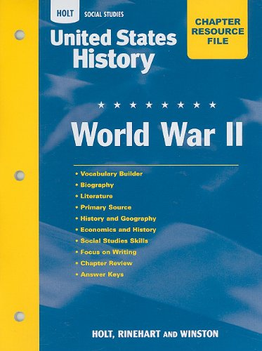 9780030435737: Holt United States History: Chapter Resource File - World War 2 Grades 6-9