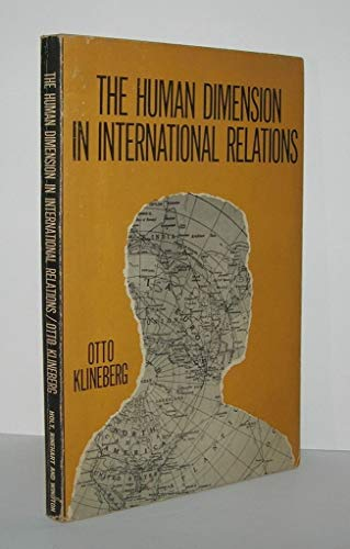 9780030435850: Human Dimension in International Relations