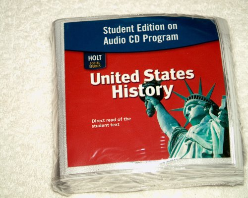 9780030435942: United States History: Student Edition on Audio CD Program