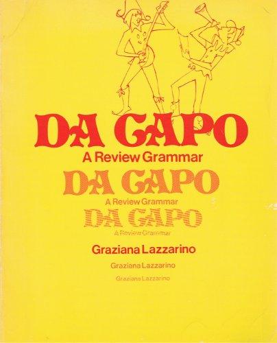 9780030438462: Da Capo: A Review Grammar (English and Italian Edition)