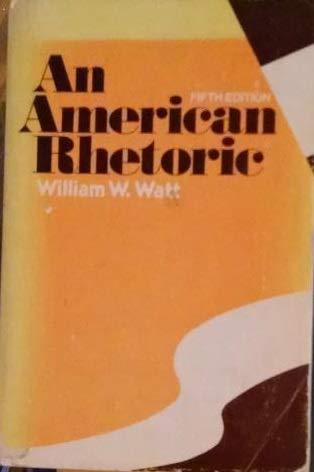 9780030441660: An American Rhetoric