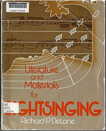 9780030446269: Literature and Materials for Sightsinging