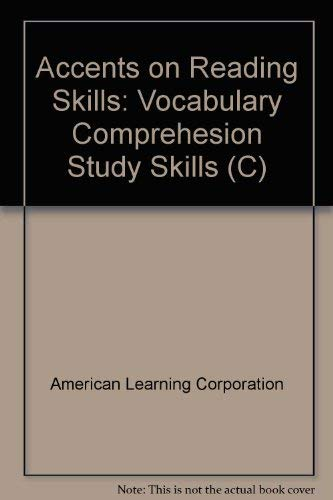 9780030448164: Accents on Reading Skills: Vocabulary Comprehesion Study Skills (C)