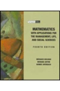 9780030451591: Math with Application for the Management: Life and Social Sciences
