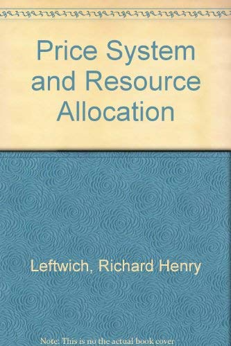 9780030454219: Price System and Resource Allocation