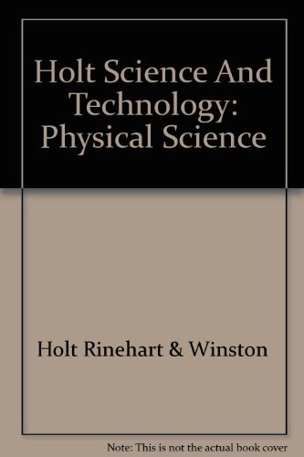 9780030455926: Holt Science & Technology: Study Guide Physical Science