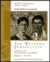 9780030456589: Study Guide, Volume I for Cannistraro/Reich's The Western Perspective: A History of European Civilization