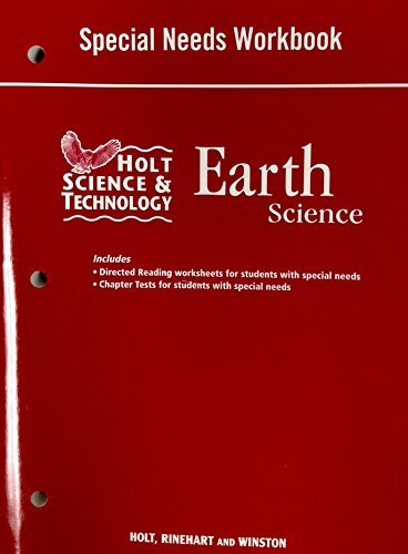 9780030462023: Holt Science & Technology: Special Needs Workbook Earth Science