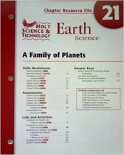 9780030463334: Earth Science: A Family of Planets (Chapter Resource File, No.21)
