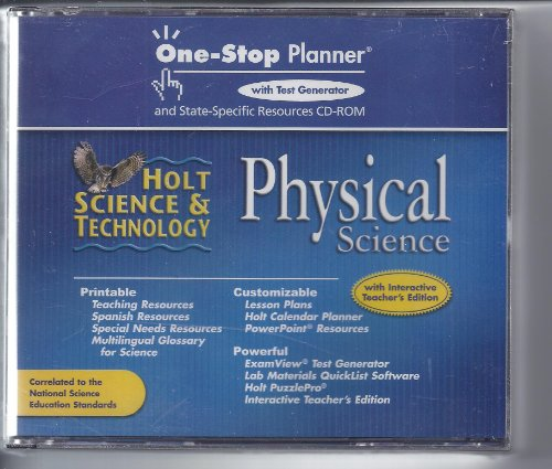 9780030463822: Physical Science One Stop Planner with Test Generator