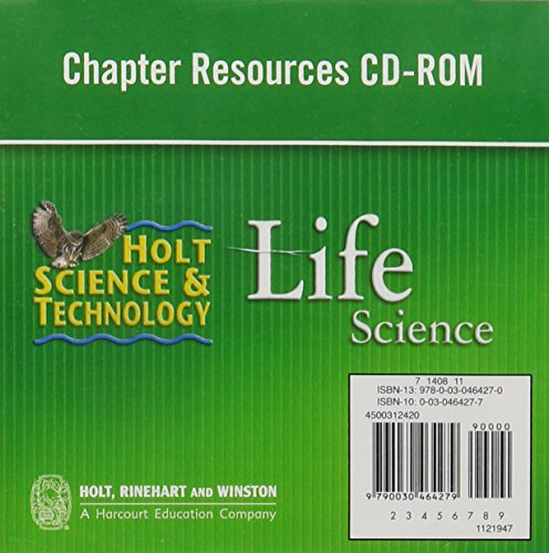 9780030464270: Holt Science & Technology: Chapter Resources CD-ROM Life Science