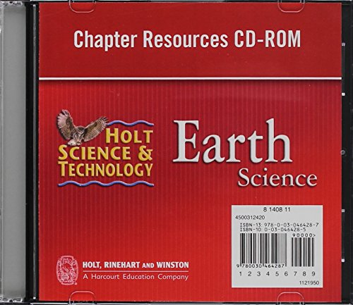 9780030464287: Holt Science & Technology: Chapter Resources CD-ROM Earth Science