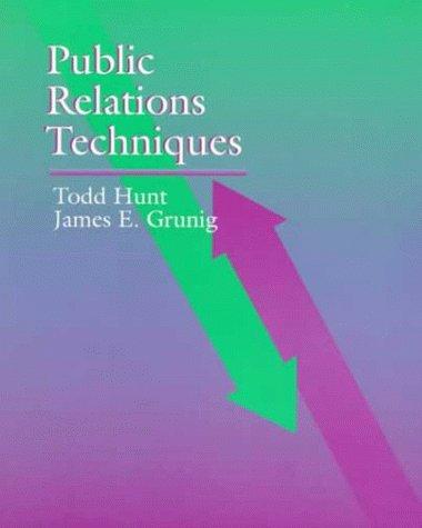 9780030464331: Public Relations Techniques