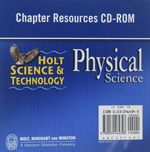 9780030464348: Holt Science & Technology: Chapter Resources CD-ROM Physical Science