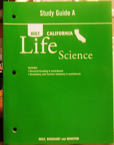 9780030465291 study guide a holt life science california abebooks rh abebooks com holt california life science study guide b with directed reading worksheets Holt California Life Science Eukaryotic Cell Diagrams