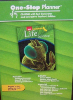 9780030465581: One-Stop Planner with Test Generator & Interactive Teacher's Edition (Holt California Life Science 5 CD Set)