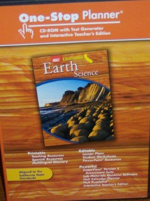 9780030465598: One-Stop Planner with Test Generator & Interactive Teacher's Edition (Holt California Earth Science. 5 CD Set)