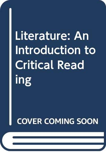 9780030469176: Literature: An Introduction to Critical Reading