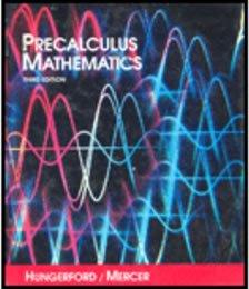 9780030469299: Precalculus Mathematics