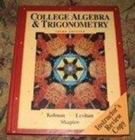 9780030469343: College Algebra