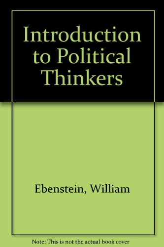 9780030470271: Introduction to Political Thinkers