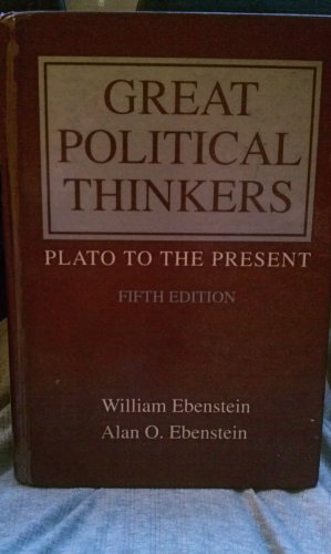 9780030470288: Great Political Thinkers: Plato to the Present