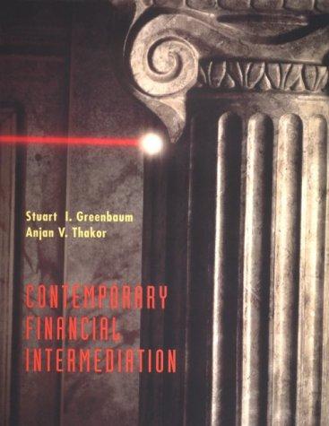 9780030470936: Contemporary Financial Intermediation