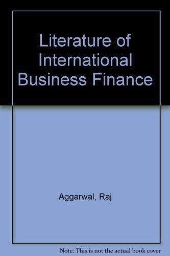 9780030471919: Literature of International Business Finance