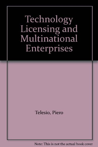 9780030474767: Technology Licensing and Multinational Enterprises (Praeger special studies)