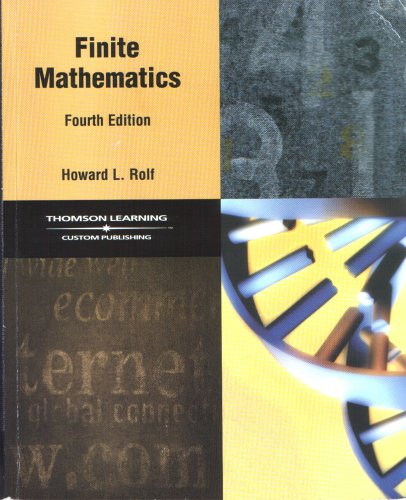 9780030481277: Finite Mathematics