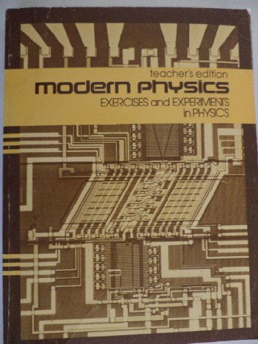 9780030487415: Teacher's Edition Modern Physics: Exercises and Experiments in Physics