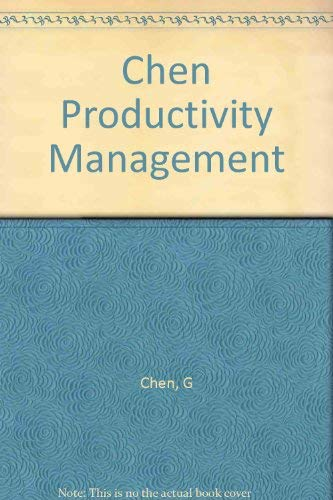 9780030489013: Productivity Management: Text and Cases
