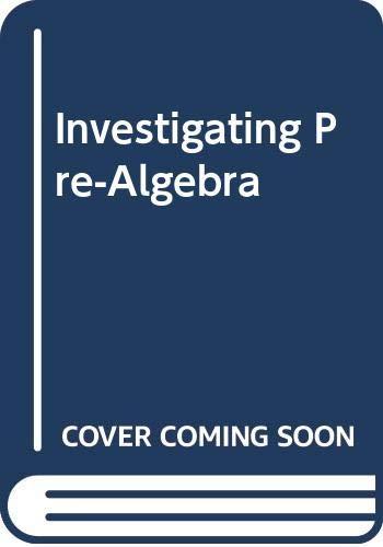 9780030493720: Investigating Pre-Algebra