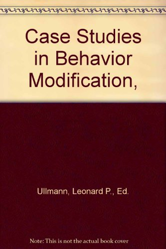 9780030497650: Case Studies in Behaviour Modification