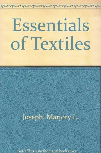 9780030498565: Essentials of Textiles